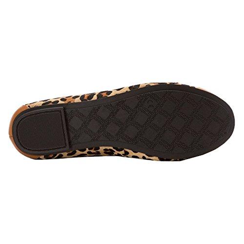 Vionic Womens Spark Minna Leather Sandals Tan Leopard