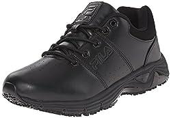 Fila Mens Memory Breach SR Low-M Walking Shoe, Black/Black/Black, 11.5 M US
