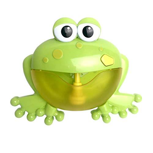 HappySDH Bubble Machine Big Frogs Badespielzeug Baby Automatico Bubble Maker Blower 12 Musik Badewannen Wasserspray Badespaß Puzzle Kleinkindspielzeug dusche ideal als Geschenk (Grün) (Baby Big Badewanne)