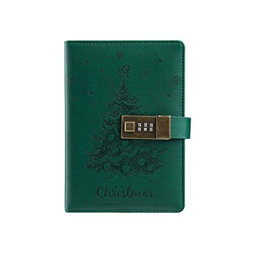 toim Weihnachten Thema PU Leder Tagebuch Schreiben Notebook Fashion Tägliche Notizblock mit...