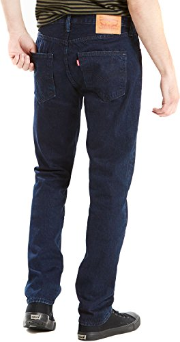 Levi's Herren Jeans 501 Original Straight Fit carbonized blue