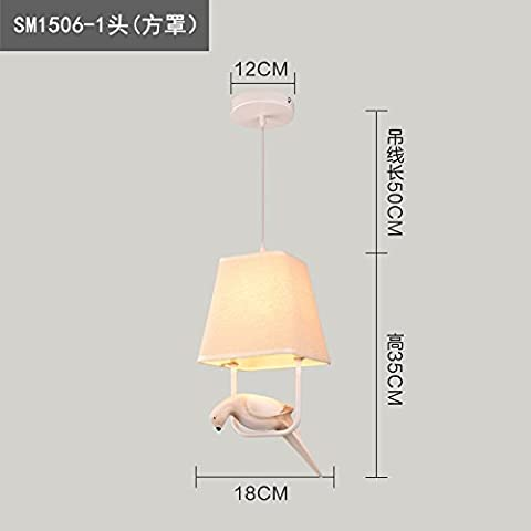 XJB Creative Nordic birdie moderno stile minimalista di tessuti , Gioielli lampadari a testa singola protezione laterale