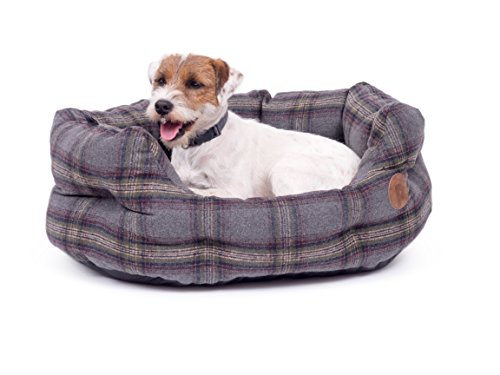 Petface Tweed Oval Dog Bed, X-Large, Grey Best Price and Cheapest
