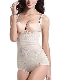 AMAGGIGO Amenxi Shapewear Underwear Waist Butt Shaper Open Bust Shapewear  Firm Control Bodysuit for Women 63a86c223