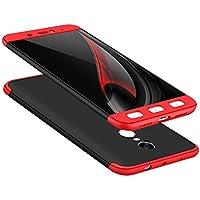 Carcasa para Xiaomi Redmi Note 4, Vandot 360° Full Body Funda Protectora Mate PC Shell Duro 3 in 1 Todo Incluido A prueba de Choques Anti-Scratch Ultra Slim 360 grados Cubierta Completo del Cuerpo Caso Mate de la Protección 3 en 1 para Xiaomi Redmi Note 4 / Xiaomi Hongmi Note 4, Rojo y Negro