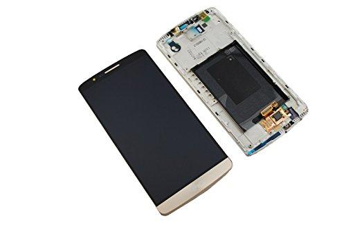 LG G3 D855 LCD Display Screen Glas Front Scheibe Bildschirm Rahmen Original Neu Gold