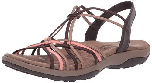 Skechers Damen Reggae Slim-Slip Spliced Slingback Sandalen, Grau (Charcoal Mint Chmt), 39 EU (Boot Sandale Open-toe)