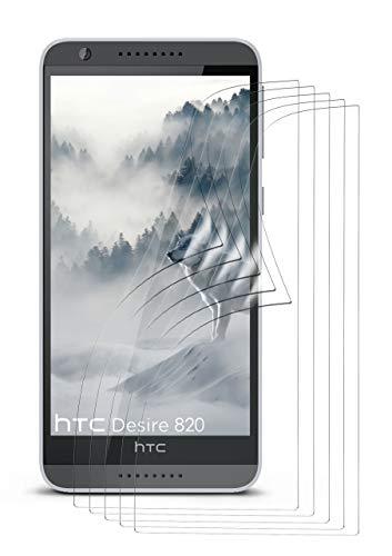 moex 5X HTC Desire 820 | Schutzfolie Klar Bildschirm Schutz [Crystal-Clear] Screen Protector Display Handy-Folie Dünn Bildschirmschutz-Folie für HTC Desire 820 Bildschirmfolie