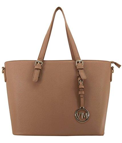Vanessa & Melissa (Farbauswahl) Damen Handtasche PU-Leder Shopping Bag Freizeit/Schule/Büro