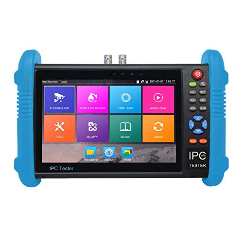 Preisvergleich Produktbild guoxuEE 7 Zoll IPS-Bildschirm H.265 4K IPC-9800 Plus IP-Kamera CCTV CVBS Analog Tester Schwarz