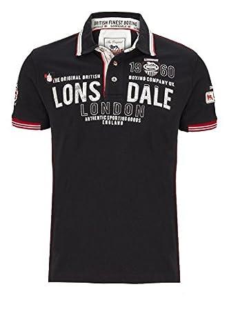 Lonsdale–T-shirt Sellindge, noir, taille XXL