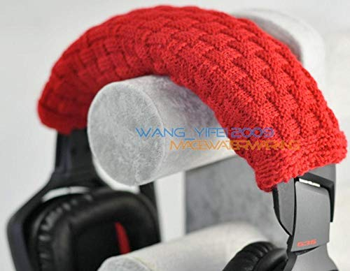 Kopfbandpolster aus 100% Reiner Wolle für Razer Kraken Tiamat BlackShark Over-Ear PC Gaming Headset Kopfhörer Large Chinese Red