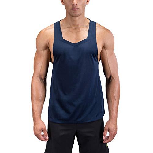 Shangqi T-Shirt Herren Männer Kurzarm Shirt optimal für Gym & Training Passform Slim-Fit Rundhals & tailliert Fitness T-Shirt Herren Funktionelle Sport Bekleidung Geeignet Für Workout Training (Leuchten T-shirts, Die)