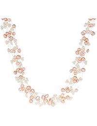 Valero Pearls - Collier de perles - Perles de culture d'eau douce - Argent sterling 925 - Bijoux de perles - 60200102