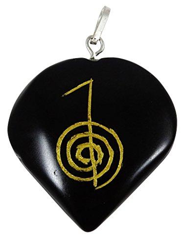 Harmonize Forma turmalina Piedra del corazon Espiritual Colgante Amuleto de Piedra simbolo de Reiki Healing
