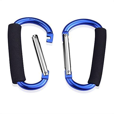 SIENOC Sac à provisions porte-sac porte-sac porte-sac porte-outils gros sac crochet poignée votre fourre-tout (2 bleu)