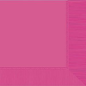 amscan Paquete de 20 servilletas Grandes, Papel, Verde Rosa