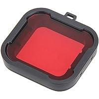 Wuudi xiao Cámara de yi Carcasa Impermeable Cámara Deportiva de 2 Generación Filtro SJ9000 Anillo de Protección Espejo de Buceo Protección Impermeable, Rojo