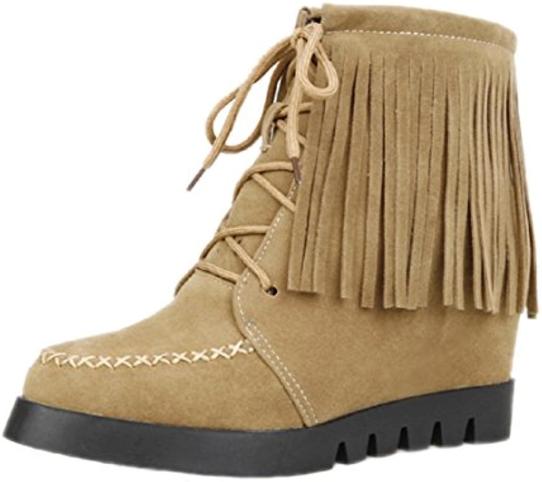 7e79fc7b87b HooH Women s Flannel Tassel Height Increasing Increasing Increasing Boots  8-81 B016ZWLHJO Parent 89f22d