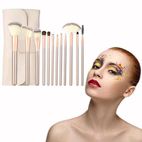 OFKPO Pinceles de Maquillaje Set Professional Make Up Kit - Mango de Madera, Make Up Brush Pincel Cosmética