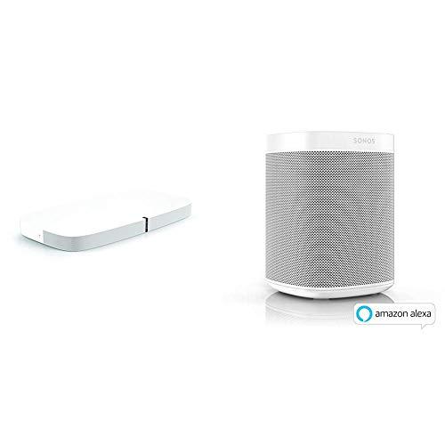 Sonos Playbase WLAN Soundbase, weiß - Fernsehlautsprecher mit kraftvollem Sound + Smart Speaker, weiß - Intelligenter WLAN Lautsprecher mit Alexa Sprachsteuerung & AirPlay