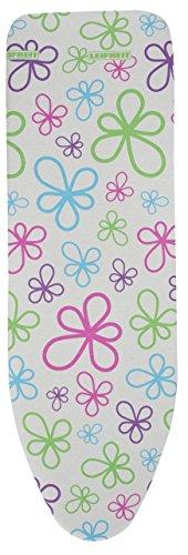 """Leifheit - Bügelbezug \""""Cotton Classic\"""" Trend Flowers, Gr. XL 140x45cm, passend für Bügeltische bis max. 140x45cm (Art.-Nr.: 71600)"""