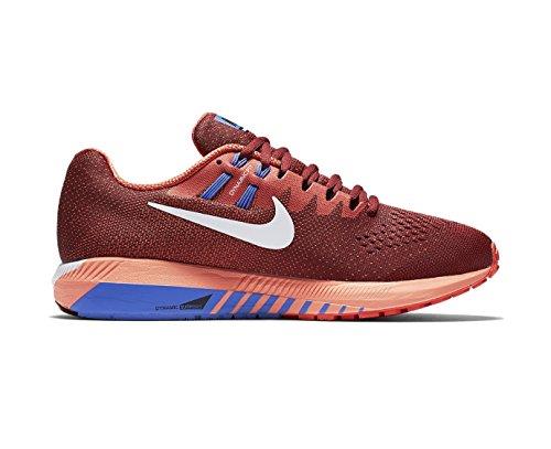 Nike Herren Air Zoom Structure 20 Laufschuhe Team Red/Max Orange/Medium Blue/Weiß
