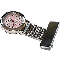 Censi Traditional Silver Fob Watch with Mother of Pearl Dial, suitable for Nurses, Doctors, Paramedics etc. Unisex so suitable for Men or Woman