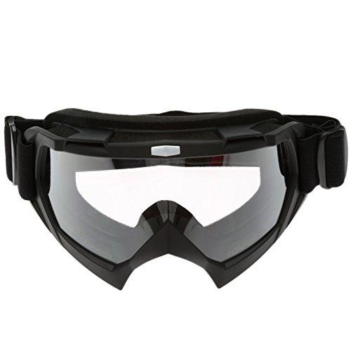 Motorrad Brillen Schutzbrillen für Outdoor Ski Snowboard Motocross Sport - Matt Schwarz Rahmen