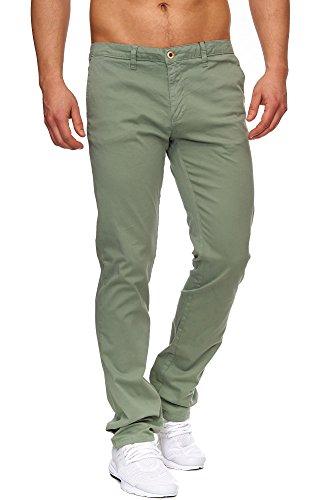 TAZZIO Styler Chino Stoff Hose ChiNoHose Slim Fit 428 Khaki