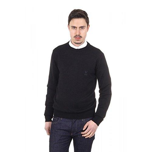 Versace 19.69 Abbigliamento Sportivo Srl Milano Italia Versace 19.69 Abbigliamento Sportivo Milano mens round neck sweater 9802 GIROCOLLO NERO NERO Noir