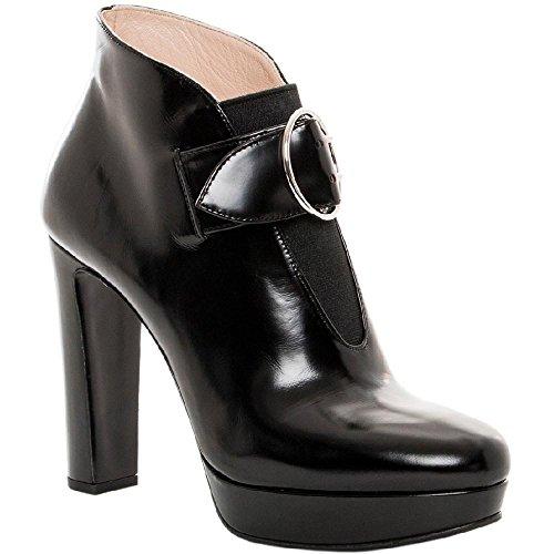 Bootines Prada pour femme en Cuir veau brillant noir - Code modèle: 1TP178 ULS F0002 Noir