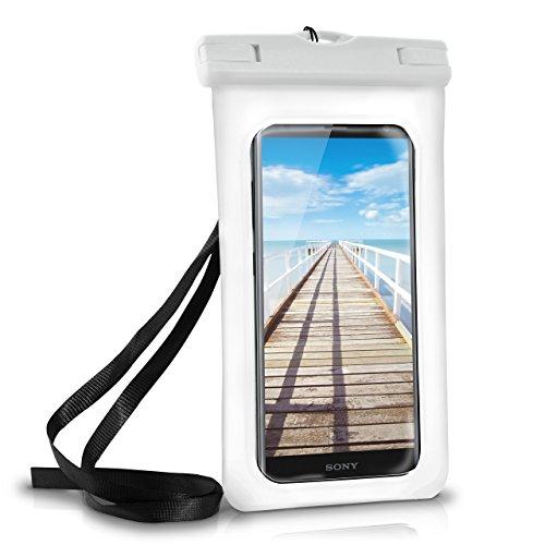 MoEx Wasserdichte Hülle für Sony | Full Cover in Weiß OneFlow 360° Unterwasser-Gehäuse Touch Schutzhülle Water-Proof Handy-Hülle für Sony Xperia XA1 XZ2 Z5 Z3 Compact Z X A UVM Case Handy-Schutz