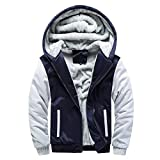 saymany Mantel Herren Mens Hoodie Winter Warm Fleece Zipper Sweater Jacket Outwear Coat Tops Blusen Sportwear Daunenjacke