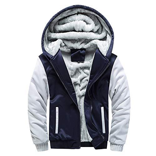 JYJM 2018 Windbreaker Männer Hoodie Winter Warme Fleece Reißverschluss Pullover Jacke Outwear Mantel Tops Blusen Herren Lange Mantel Trenchcoat Übergangsjacke Faux Wollmantel Parka Coat Outwear 100% Polyester Diamond