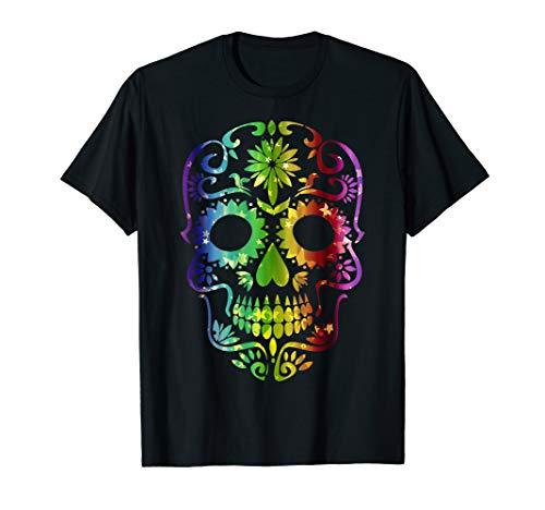 wuw Tag der Toten T-Shirt Sugar Skull Dia de los Muertos (Skull Sugar Kostüm Halloween)