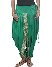 Nika Women's Cotton Hand Block Printed Dhoti Salwar_Green
