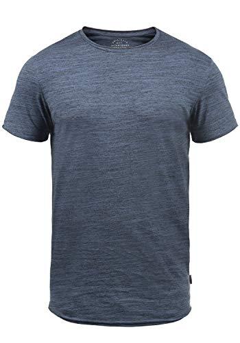 JACK & JONES Originals Elia Herren T-Shirt Kurzarm Shirt Mit Rundhalsausschnitt, Größe:L, Farbe:Vintage Indigo -