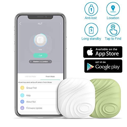 Evershop 2 in1 Schlau Schlüsselfinder Key Finder RF Item Locator perfekt für Haustier Brieftasche Uhr Telefon Tracker Andere Verlorene Zubehör(Weiß Grün)
