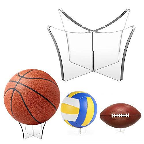 Destinely Multifunktionskugel-Ausstellungsstand, Kugel-Gestell-Acrylmultifunktionsausstellungsstand, Basketballkugel-Ausstellungsstand-Lagerung unterzeichneter unterzeichneter Haltewinkel-Fall