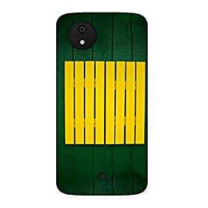 Stylish Green Squares Yello Back Case Cover for Micromax Canvas A1