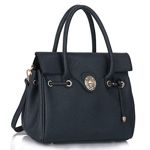 TrendStar Frauen Designer Greifen Für Leinentrage Handtasche Damen Promi-Stil Kunstleder Umhängetasche (Stil Designer Handtasche)