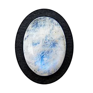 Rainbow Moonstone Cabochon 10ct Oval Shape Natural Blue Flash Moonstone Gemstone 17.5x13x5mm, K-3388