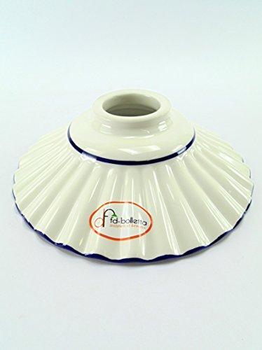 Ersatzteile Keramik-Lampen, Kronleuchter in Messing, Eisen, Schirm Keramik eingefasste blau...