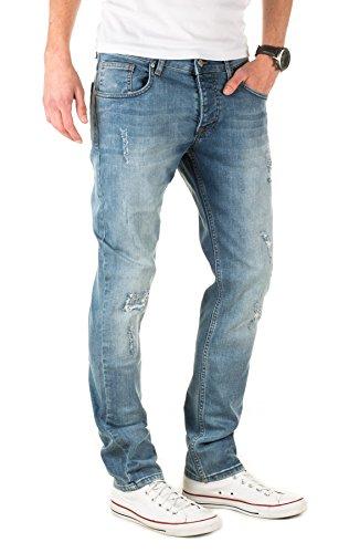 WOTEGA Herren Jeans Derrick - mit Used Look und Destroyed-Effekte Blau (Skipper Blue 193936)