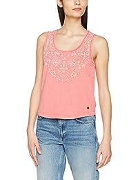 Pepe Jeans Frida, camiseta sin mangas Mujer, Rojo (Red Hot), 40 (Talla del fabricante: Medium)