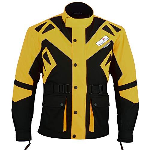 German Wear Textilien Jacke Motorradjacke Kombigeeignet, Größe:56/2XL, Farbe:Gelb