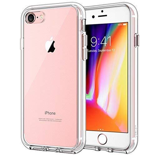 JETech 3421A Hülle für Apple iPhone 8 iPhone 7, Schutzhülle mit Anti-kratzt Transparente & Rückseite, HD Klar