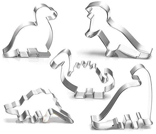 (kaimeng Dinosaurier Ausstecher-Set Ausstechformen Formen für Kinder Geburtstag handgefertigt Cookie Dinosaurier Party Supplies Gastgeschenken 5PCS)