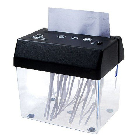 Kikar - Broyeur Papier et Ouvre-Enveloppe Miniature A6 pour Bureay - USB / Piles / sur secteur
